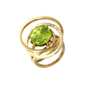 "Anello ""Elliptical"" con peridoto"