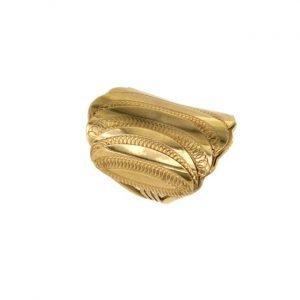 Anello in oro manifattura a fascia fatto a mano