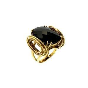 Anello moderno con onice nero