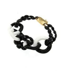 Bracciale black and white