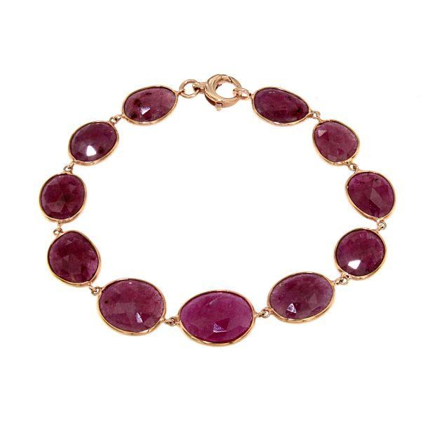 Bracciale in oro rosa e rubini