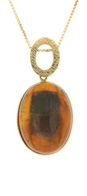 Ciondolo cabochon di ambra naturale del mar baltico