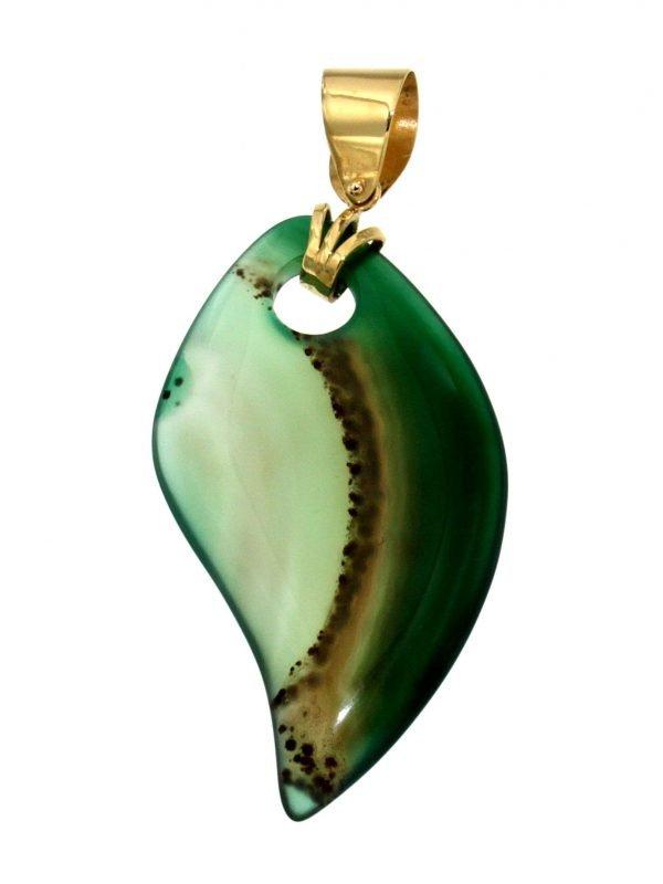Ciondolo con agata verde