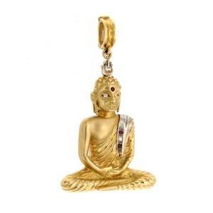 Ciondolo con Buddha in oro