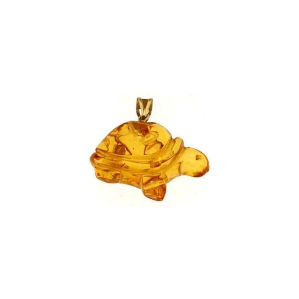 Ciondolo in ambra a forma di tartaruga