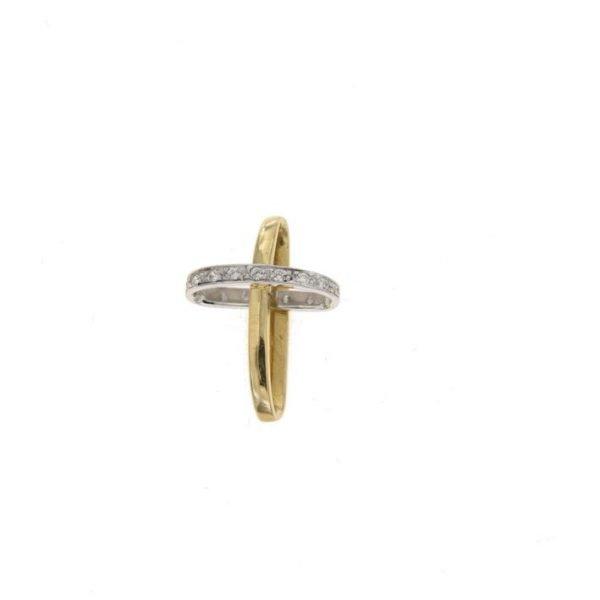 Ciondolo raffigurante il simbolo della croce con zirconi