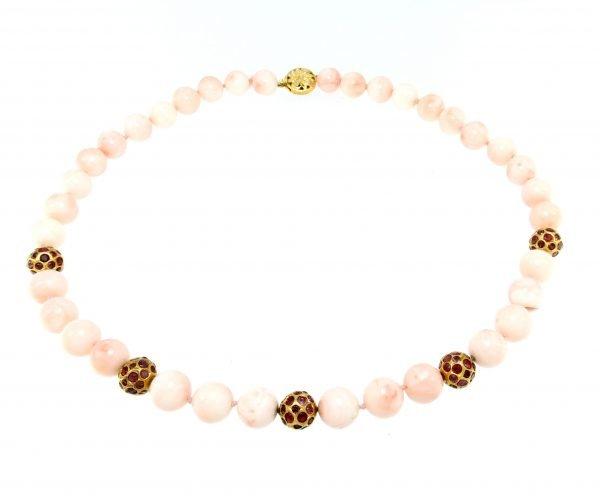 Collana di corallo Sardo e rubini