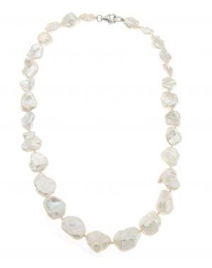 Collana di perle Keshi coltivate lago Biwa