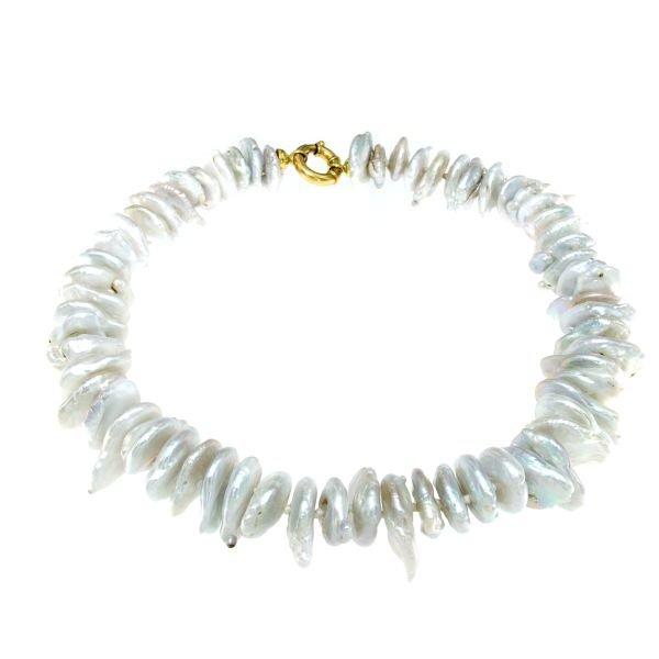 Collana girocollo di perle barocche