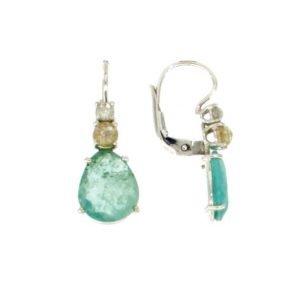 Orecchini a monachella con smeraldo di ct. 4.89 diamanti taglio corné ct. 0.89