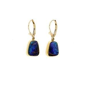 Orecchini con opale boulder