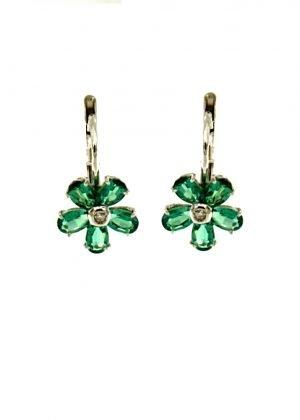 Orecchini di smeraldi e brillanti