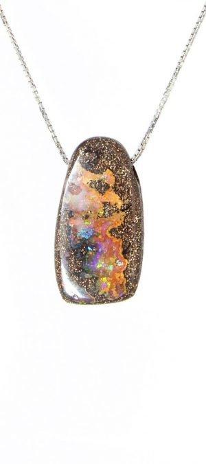 Australian natural opal pendant