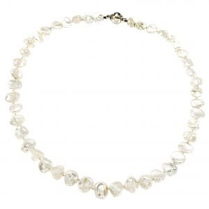 Collana girocollo di perle keshi