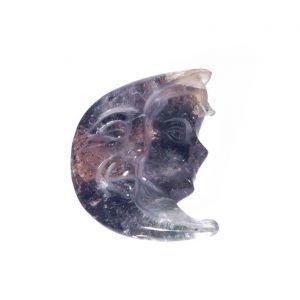Lodolite incisa e bissolite a forma di luna