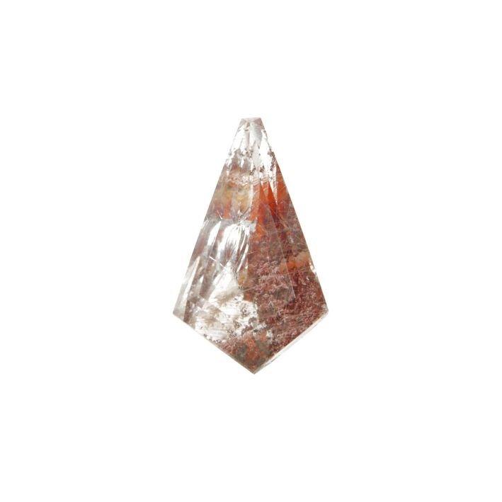gemma naturale di quarzo jalino su matrice